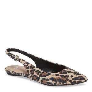 BP Sandra Slingback Animal Cheetah Print Flats 9